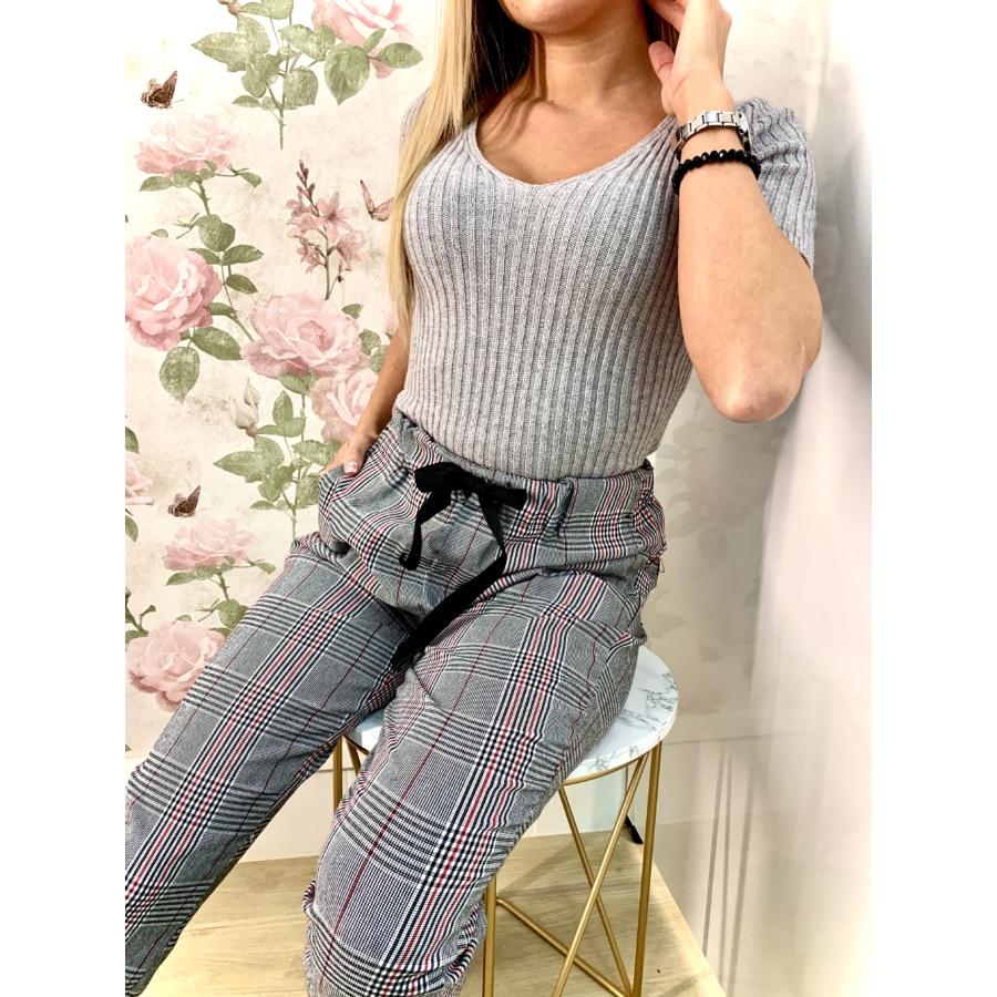 Knitted top - szürke