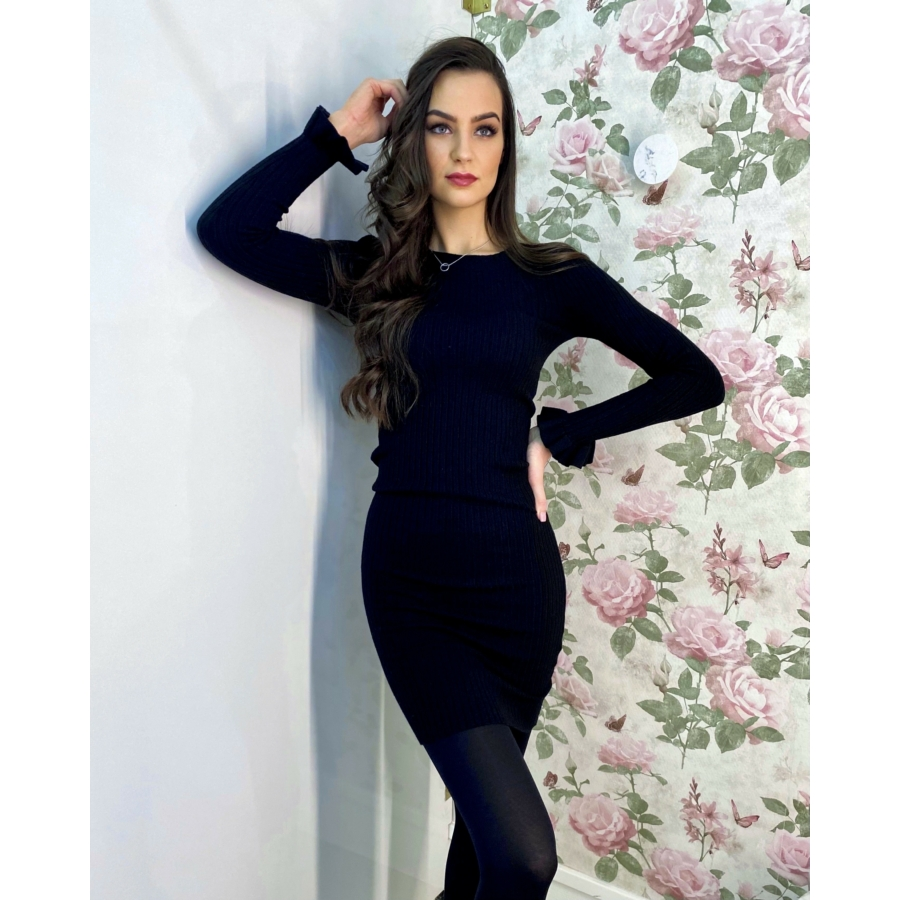 Geneva kötött anyagú ruha - fekete