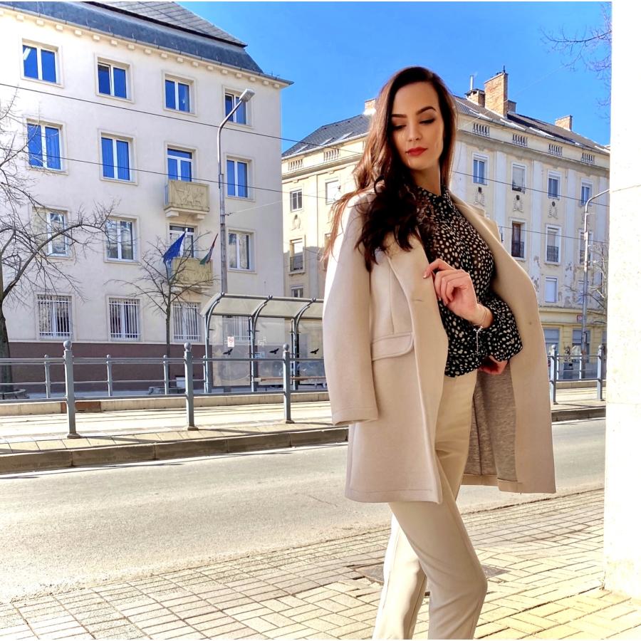 April kabát - bézs