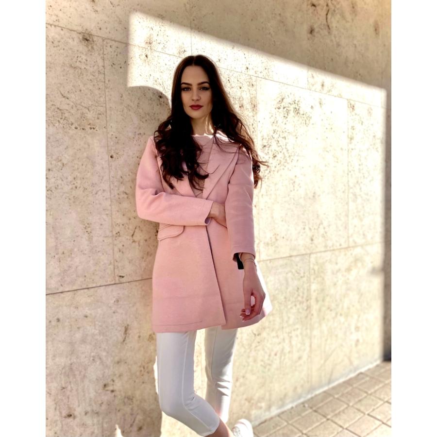 April kabát - rózsaszín