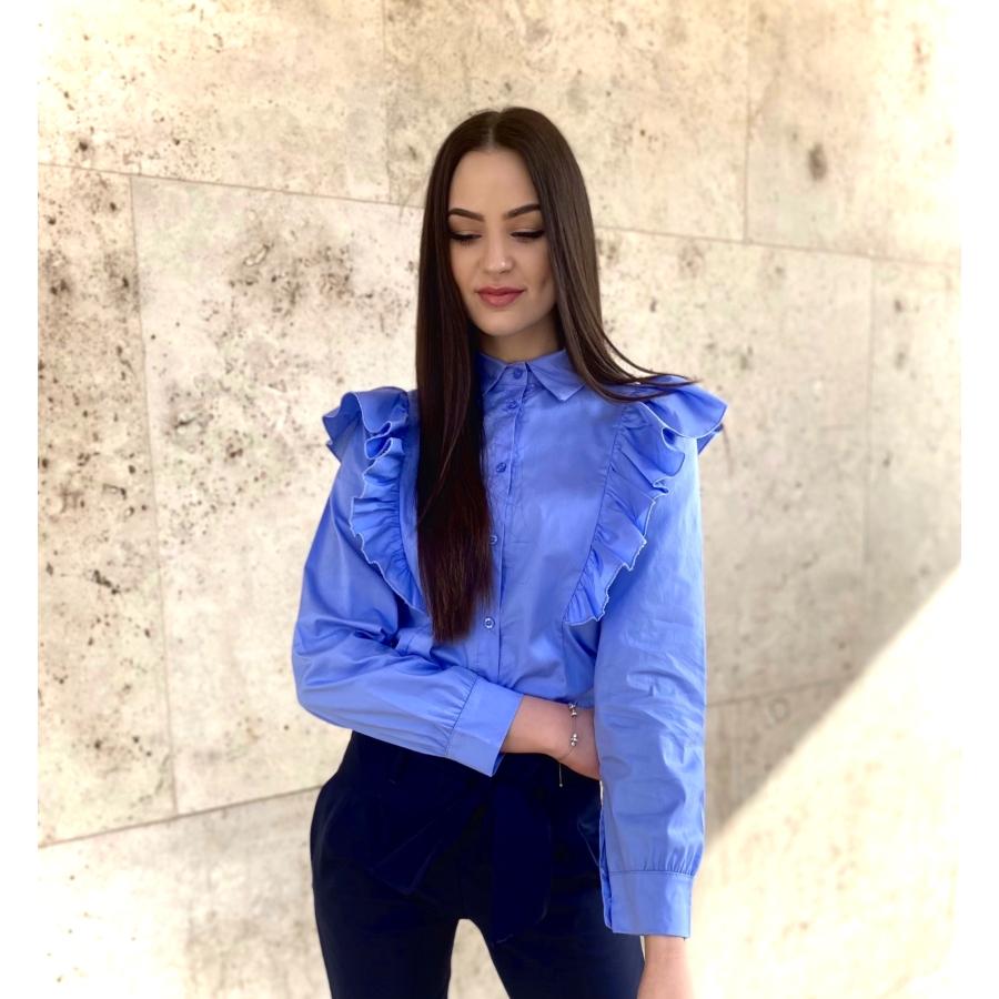 Frilly fodros ing - kék
