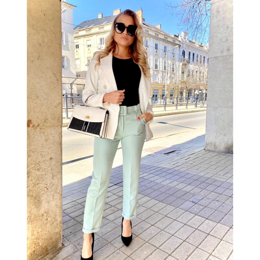 Valencia elasztikus nadrág övvel - zöld