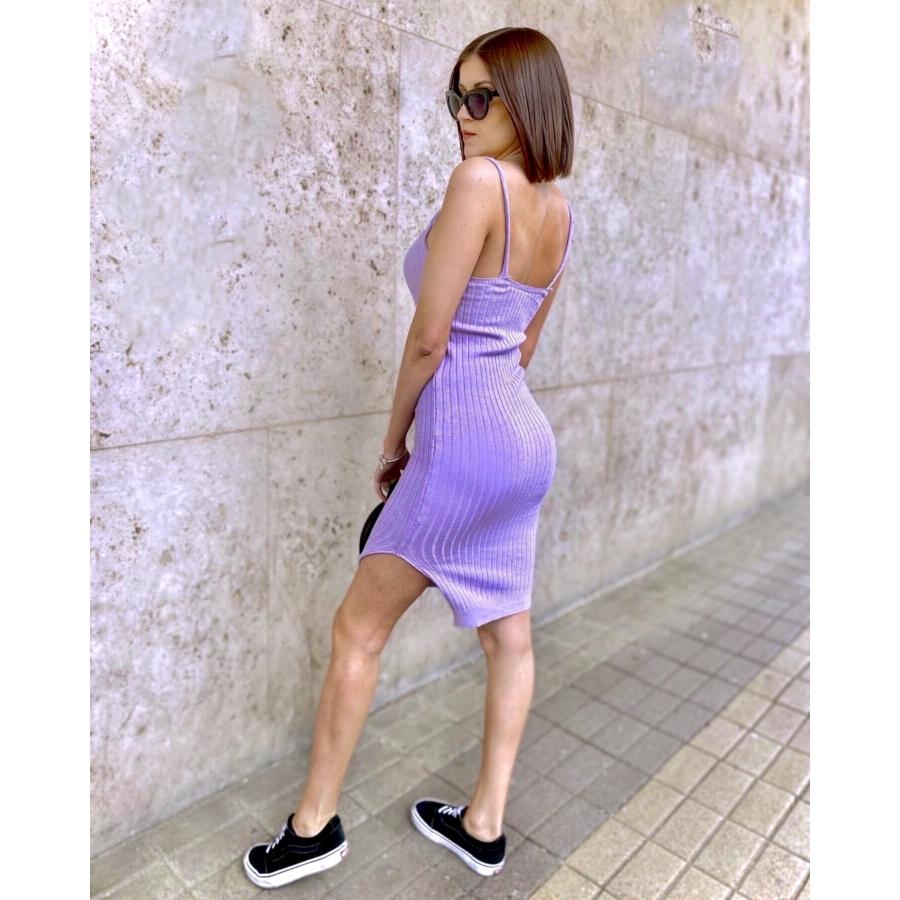 Lavender kötött anyagú ruha - lila