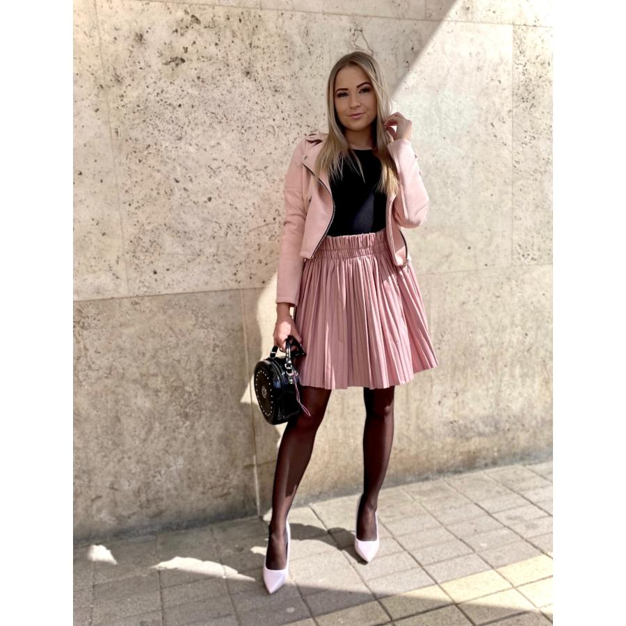 Leather bőrhatású szoknya - rózsaszín