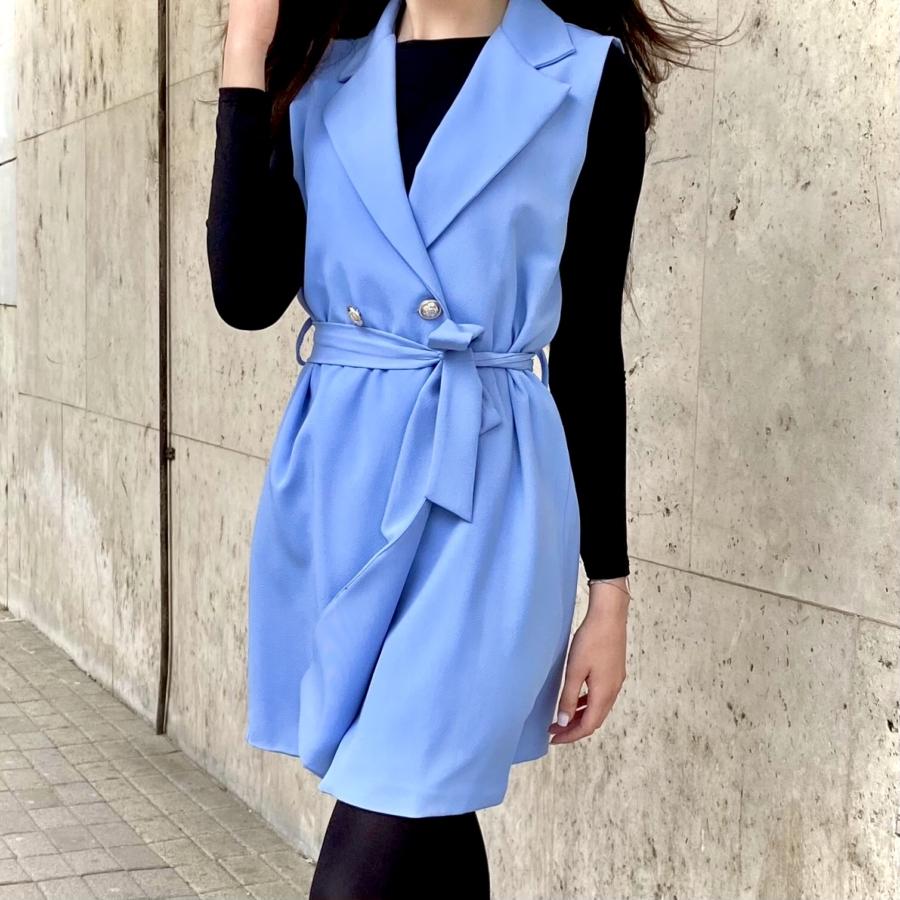 Paris ruha megkötővel - kék
