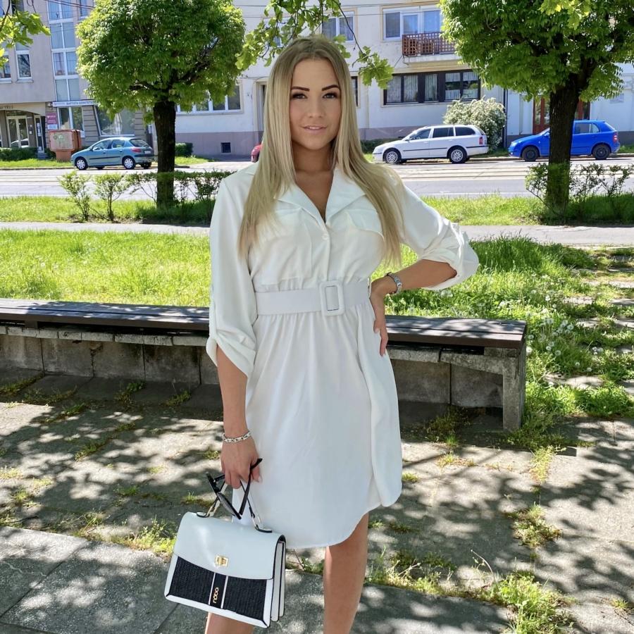 Beverly ruha övvel - fehér