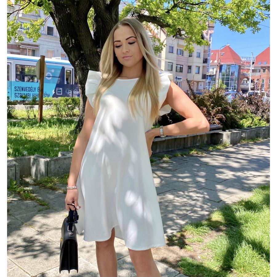 Malibu ruha fodorral - fehér