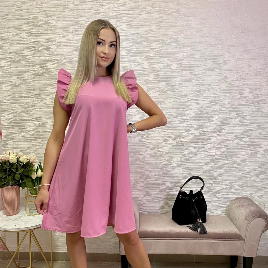 Malibu ruha fodorral - rózsaszín