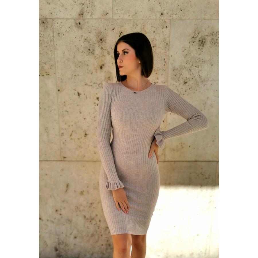 Geneva kötött anyagú ruha - világos szürke