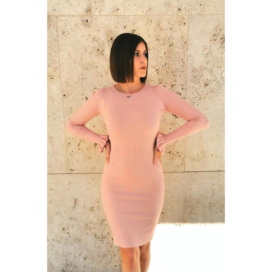 Geneva kötött anyagú ruha - rózsaszín