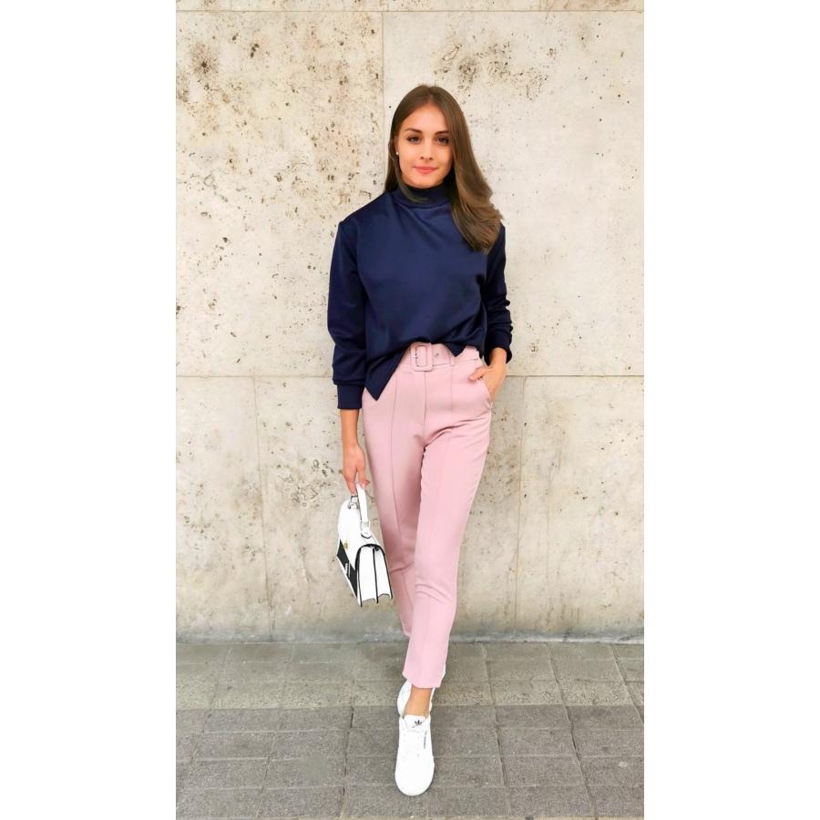 Valencia elasztikus nadrág övvel - rózsaszín