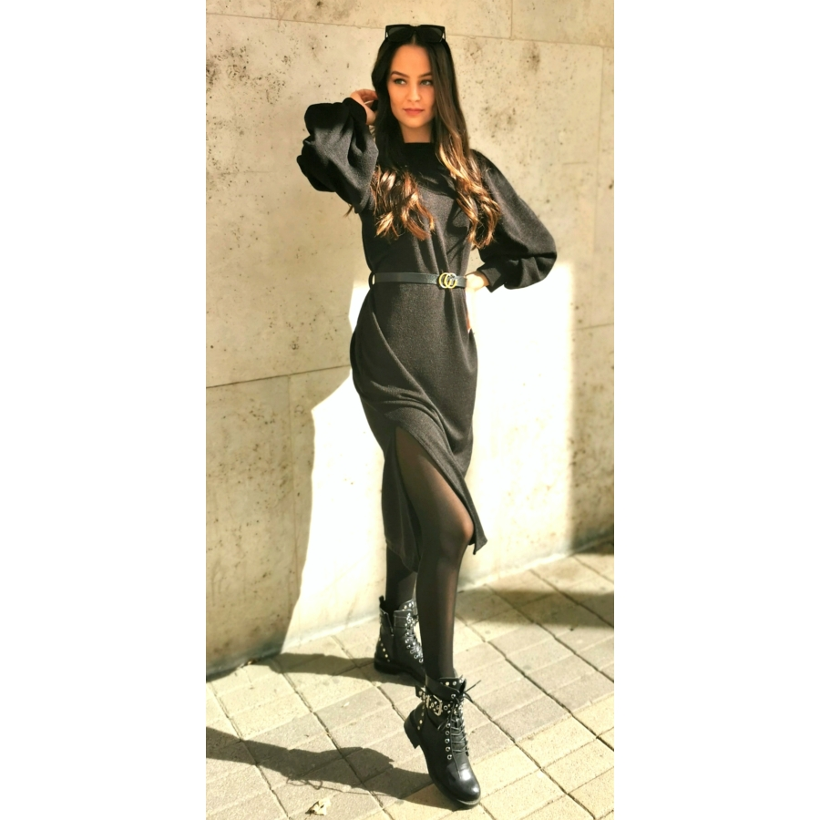 Manhattan kötött ruha - fekete