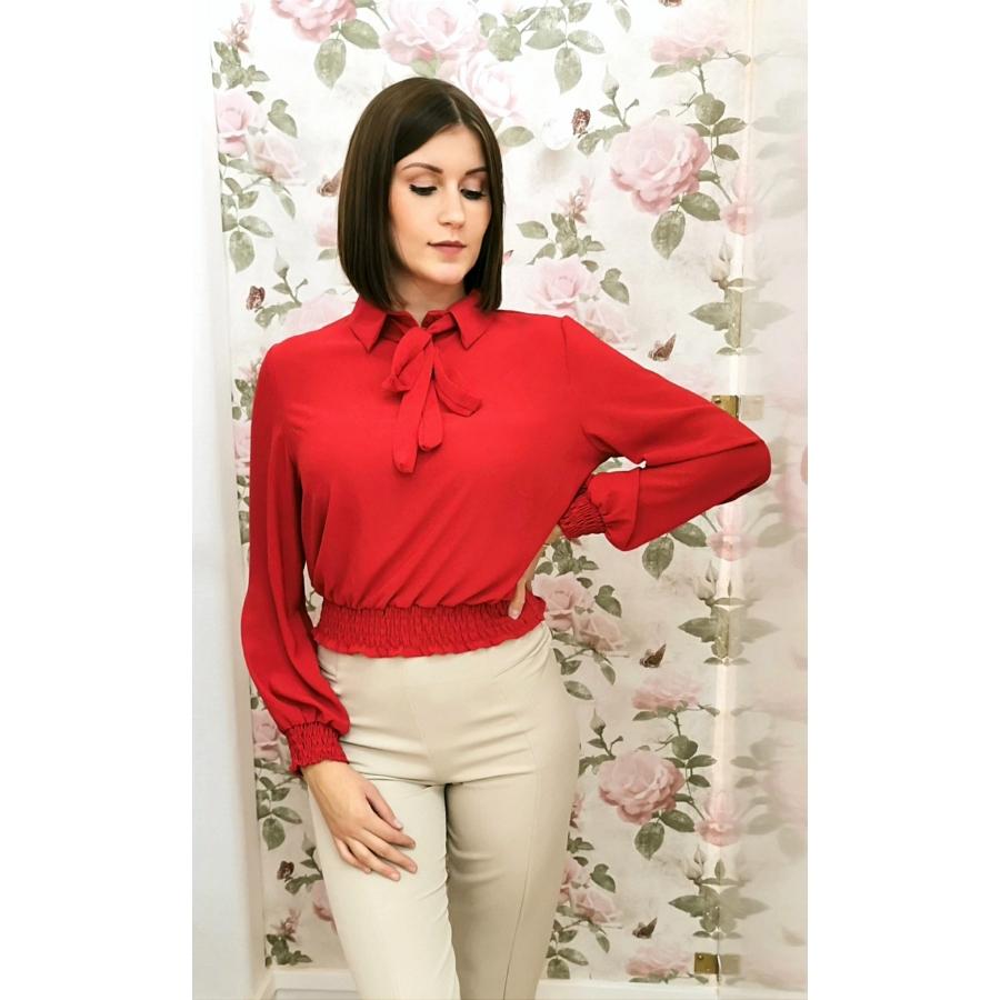 Camellia masnis blúz - piros
