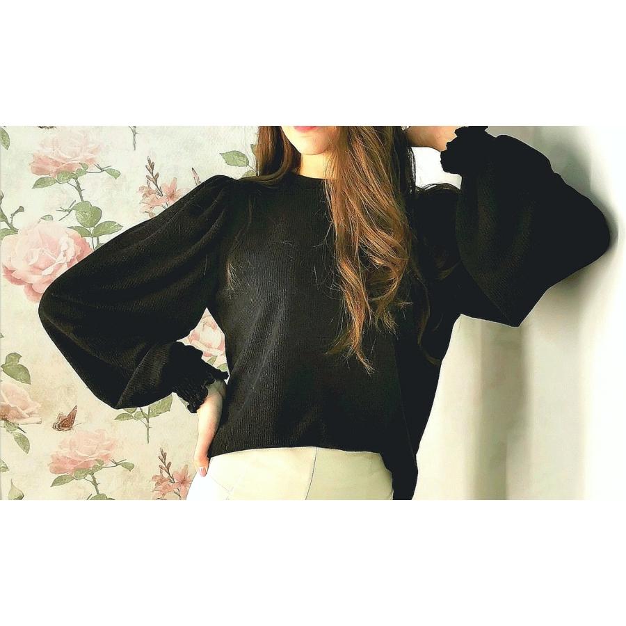 Sydney kötött pulóver - fekete