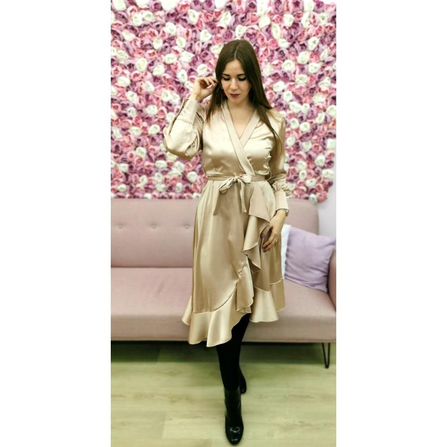 Silk fodros ruha - bézs