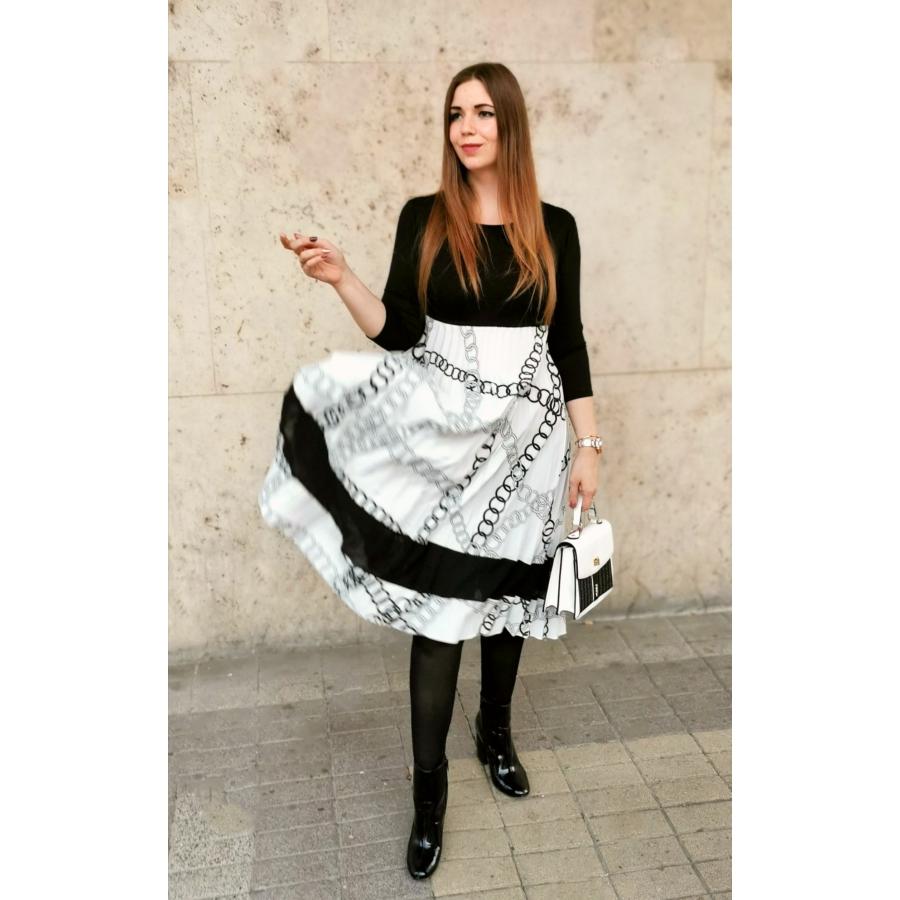 Virginia ruha - fehér mintás