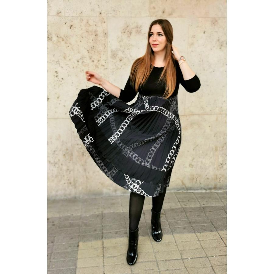 Virginia ruha - fekete mintás