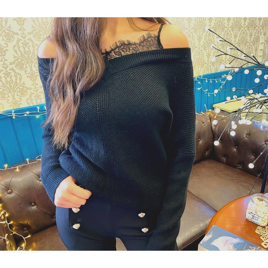 Lace pulóver csipkebetéttel - fekete