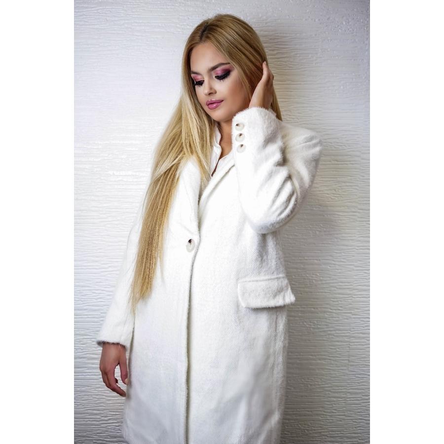 Blanche szőrös kabát - fehér