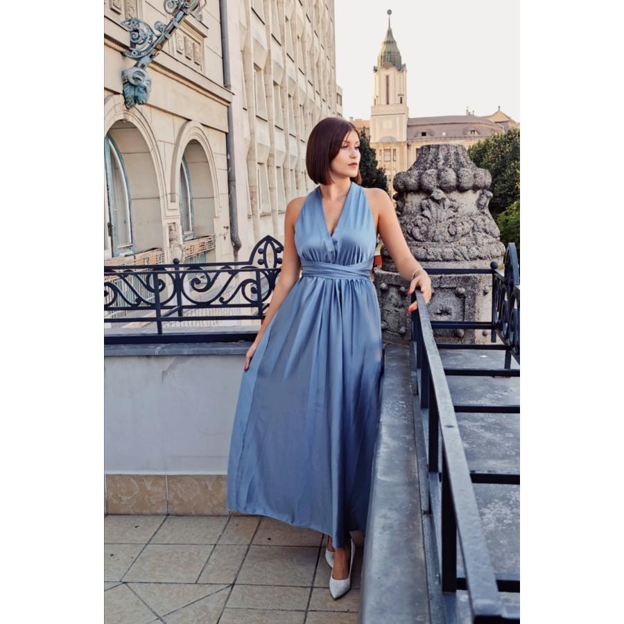 Monaco megkötős ruha - kék
