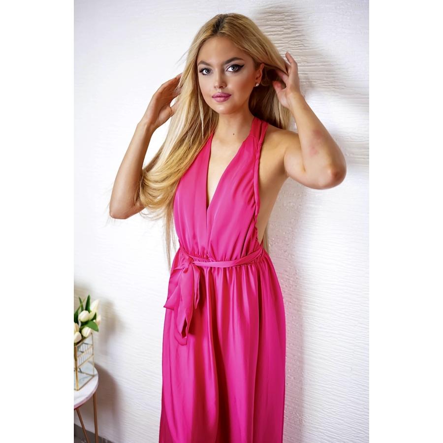 Monaco megkötős ruha - pink