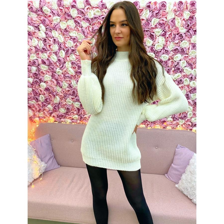 Extra puha kötött ruha - fehér