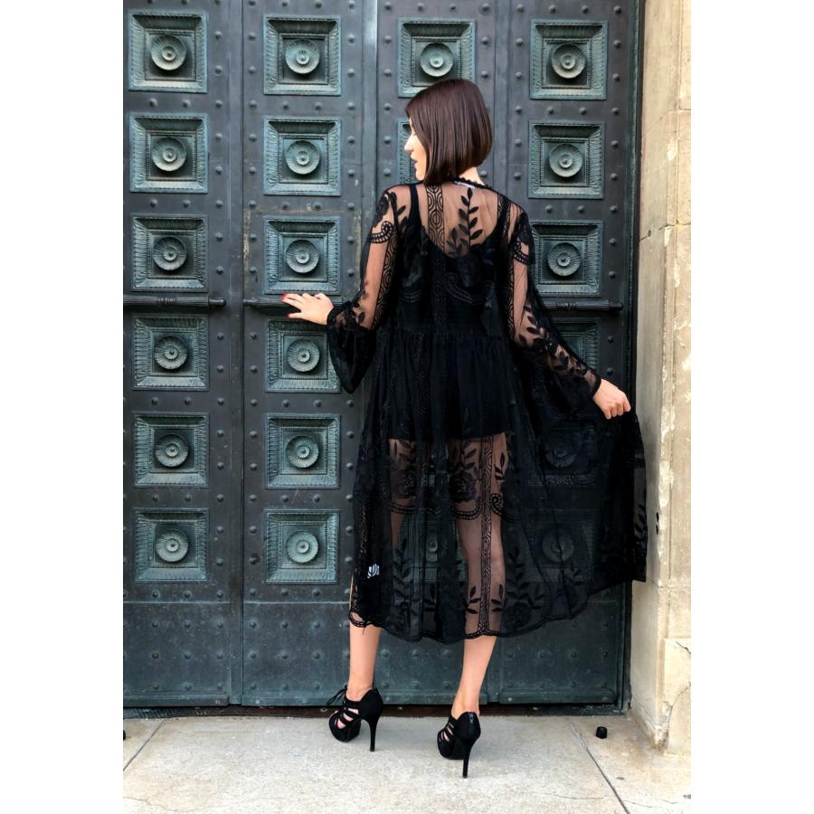Fekete kimonó