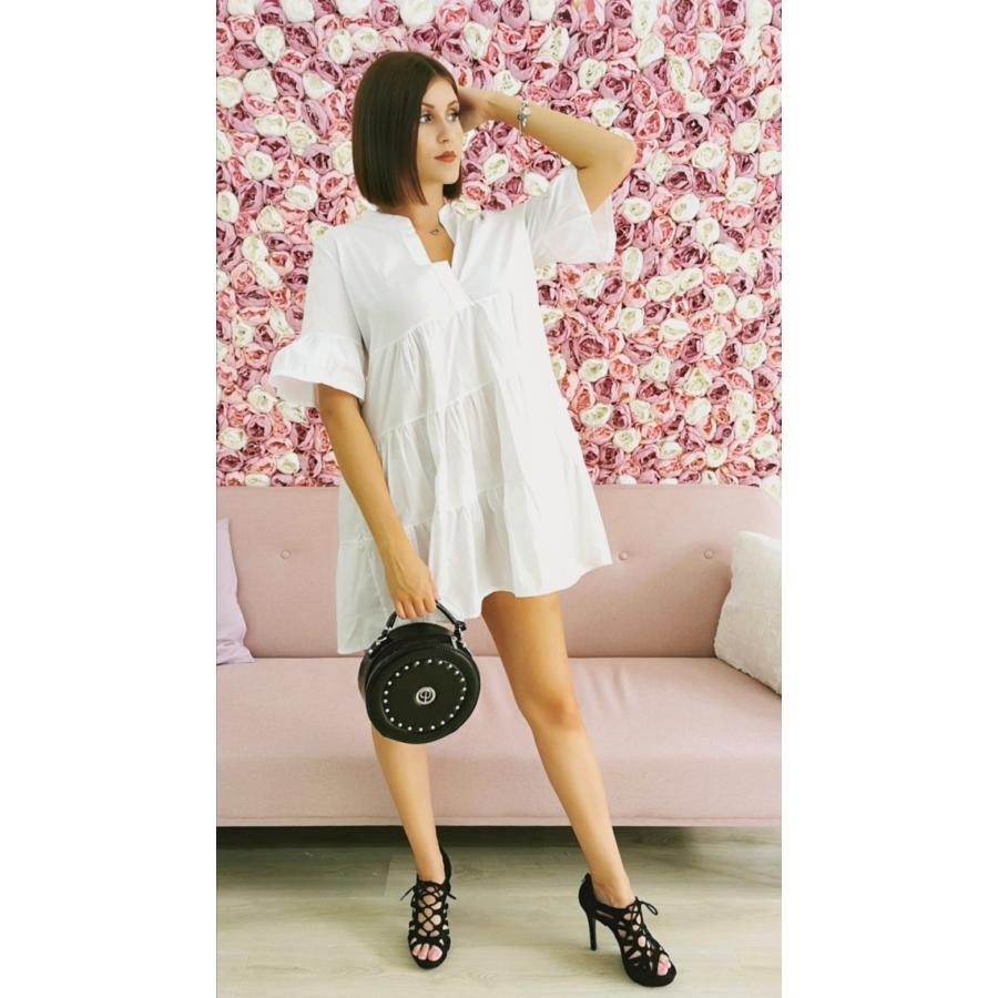 Windflower galléros ruha - fehér