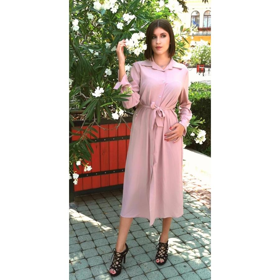 Verona megkötős ruha - rózsaszín