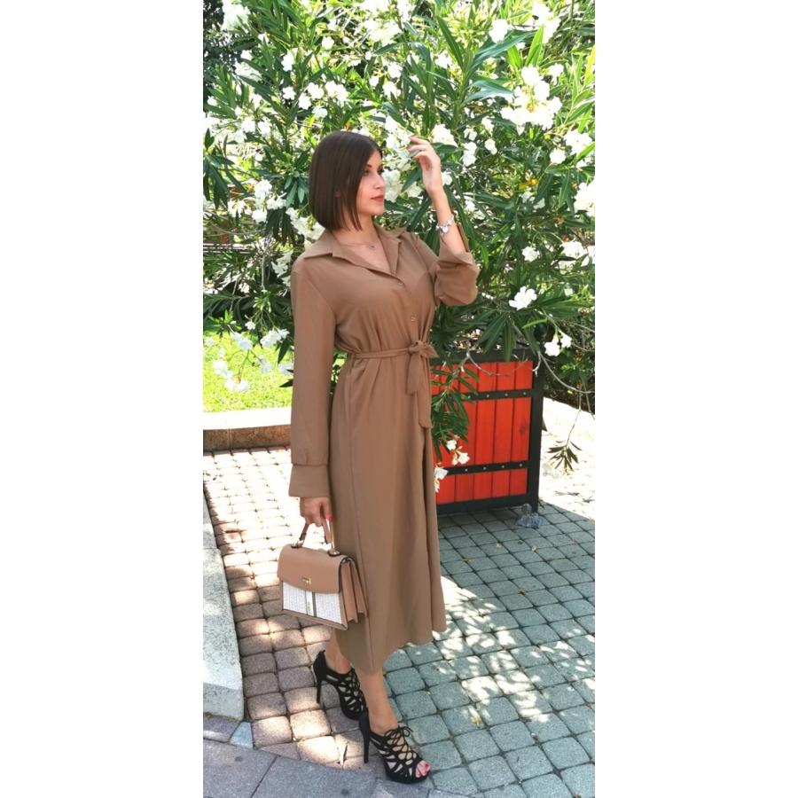 Verona megkötős ruha - barna