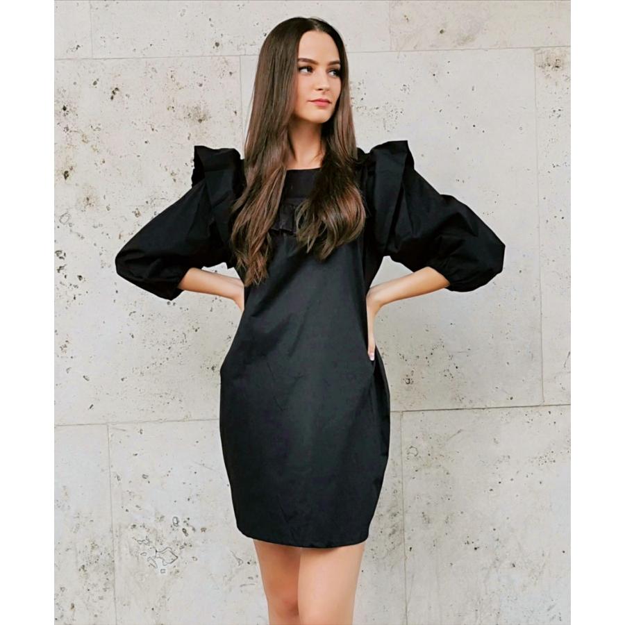 Nevada fodros ruha - fekete