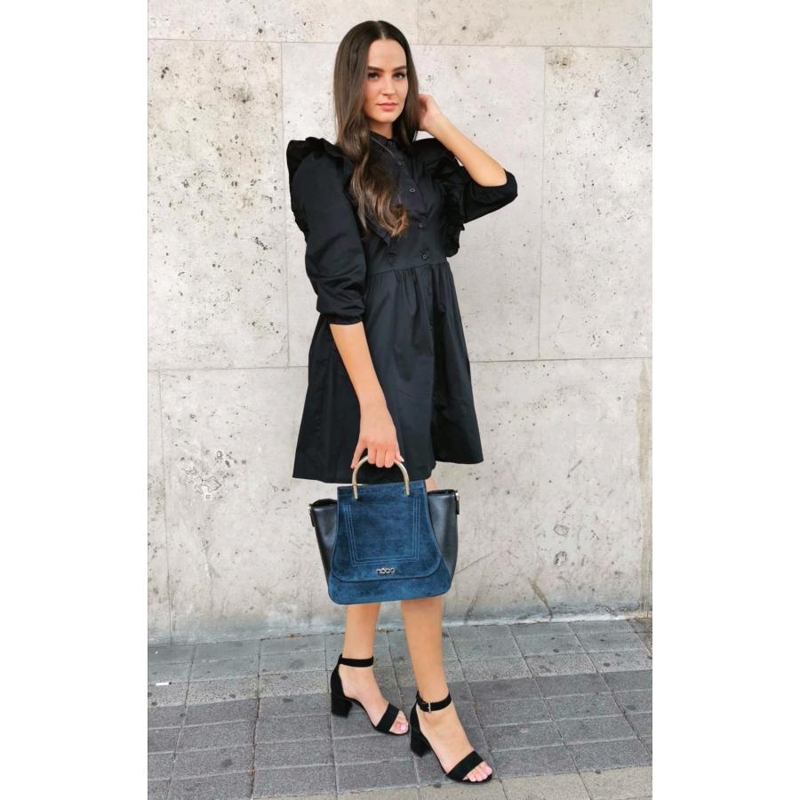 Dallas fodros ruha - fekete