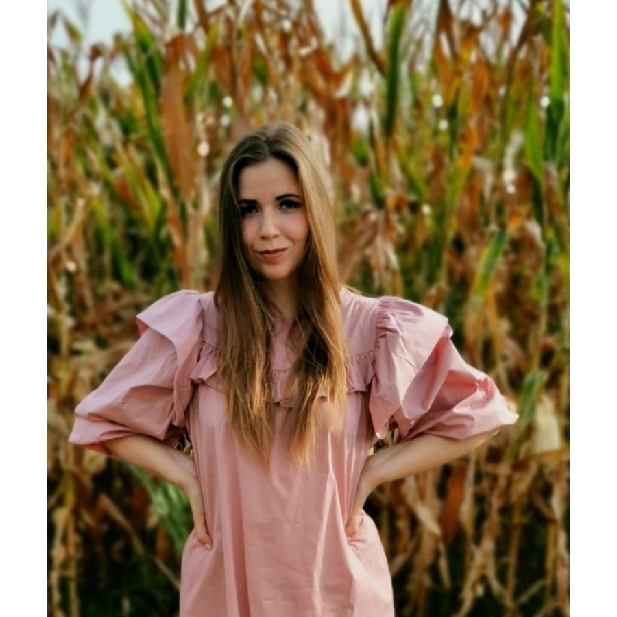 Nevada fodros ruha - rózsaszín