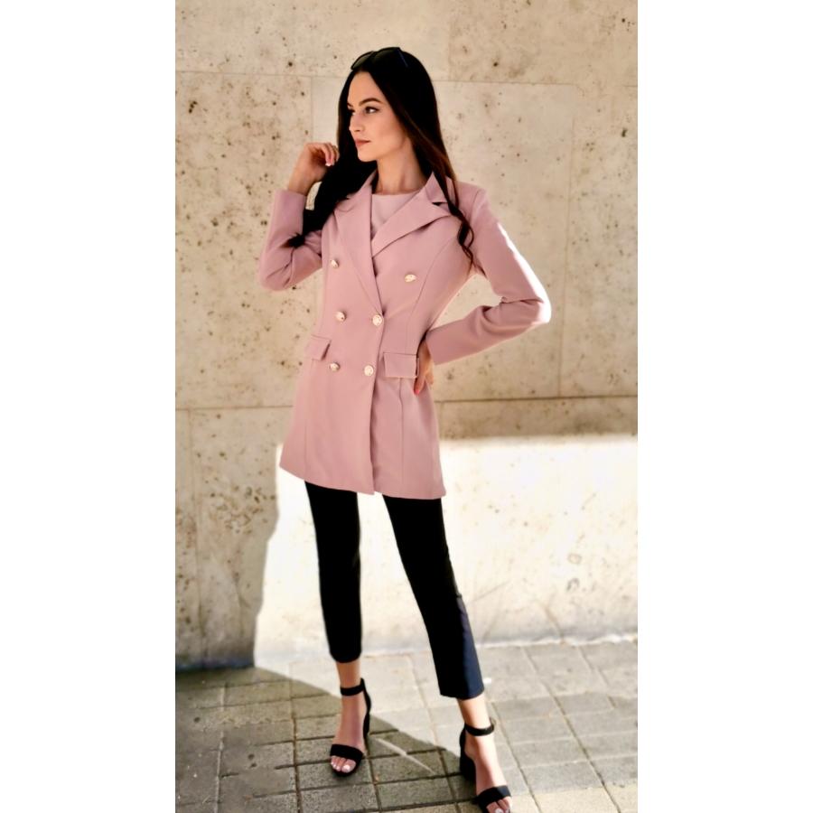 Paris hosszított blézer - rózsaszín