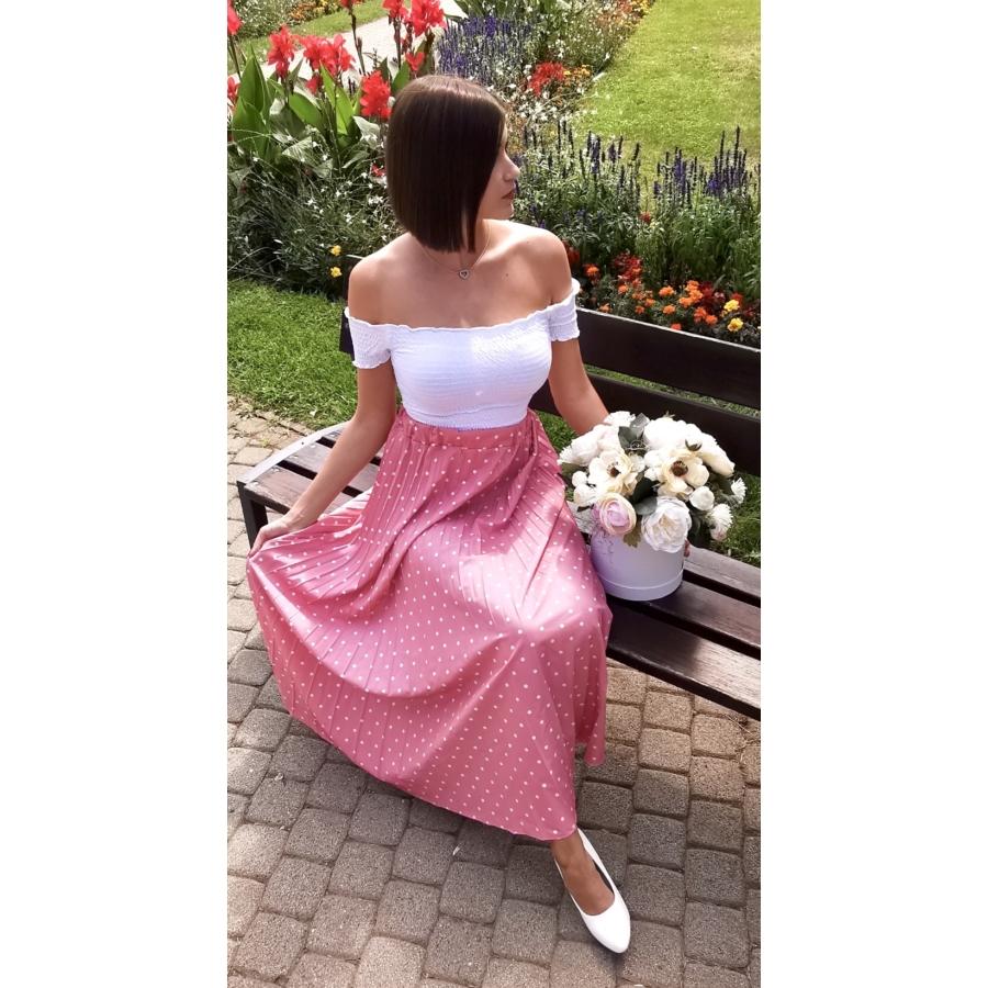 Camilla pliszírozott szoknya - rózsaszín