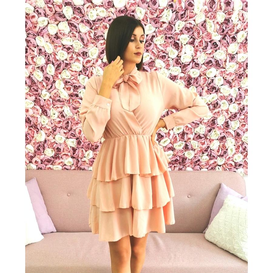 Macaron dress - rózsaszín