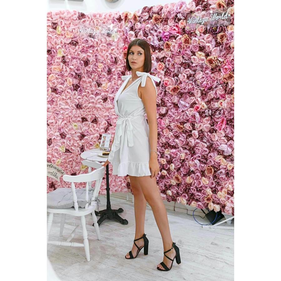Toscana fodros ruha - fehér