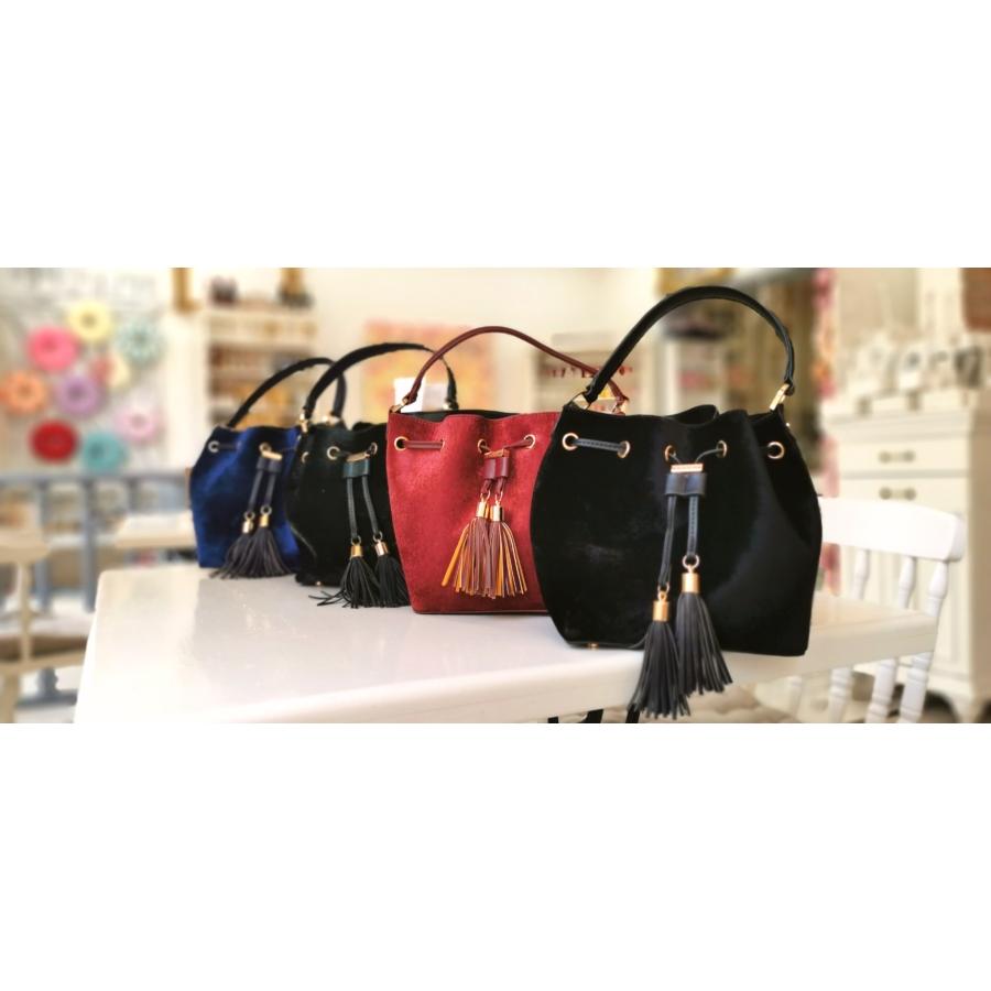 Velvet táska - fekete