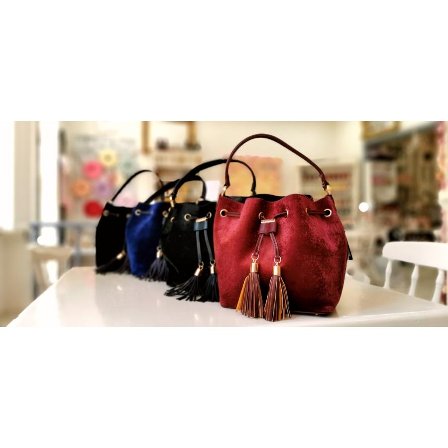 Velvet táska - burgundi