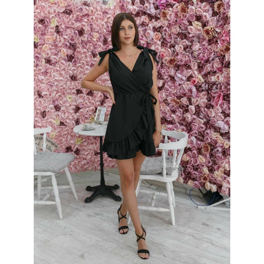 Toscana fodros ruha - fekete